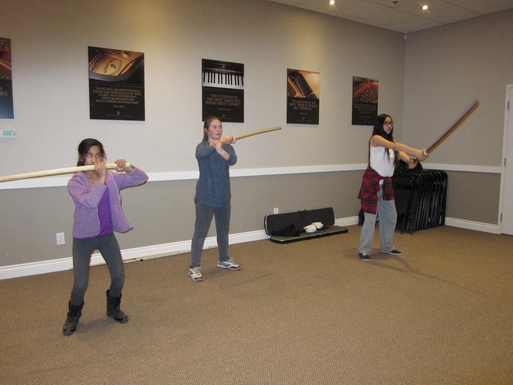 Sword Blocks in Music Class