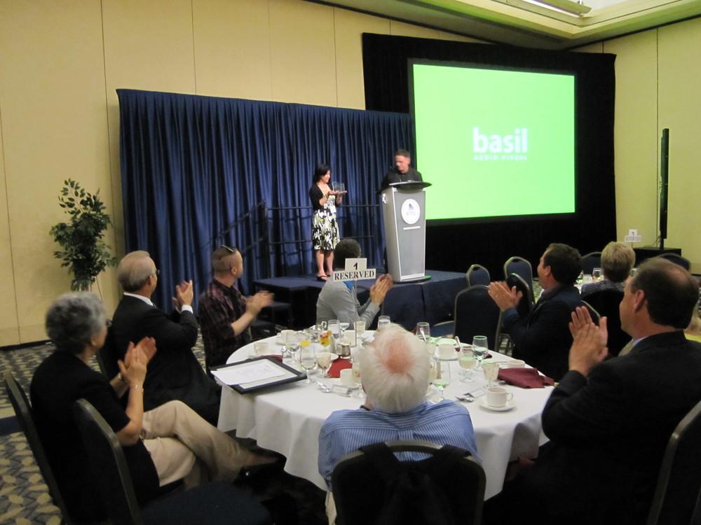 Receiving the 2013 Tech Teacher of the Year Award