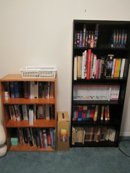 My personal library - one year after getting the KonMari treatment.