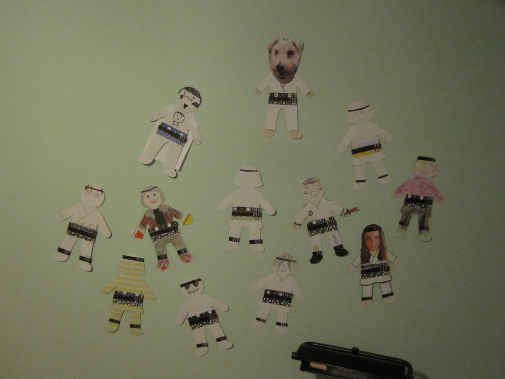 Some of the avatars that my students created last year for Maestro's Karate Belt Challenges. Photo: R-M Arca.