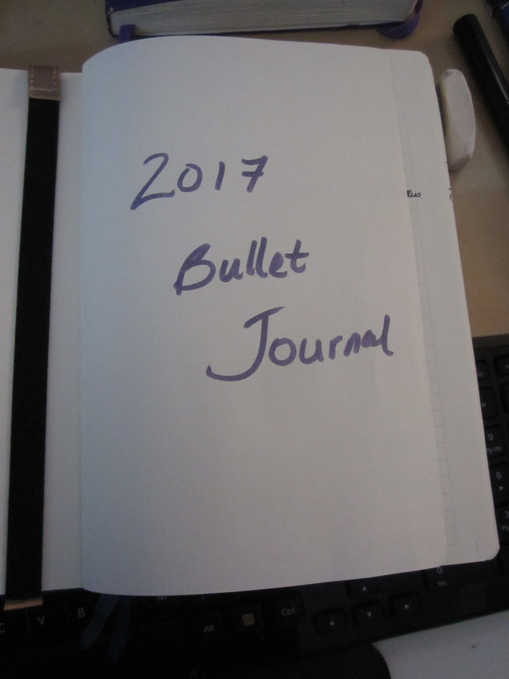 My Bullet Journal Cover Page so far. It's a start. Photo: R-M Arca.