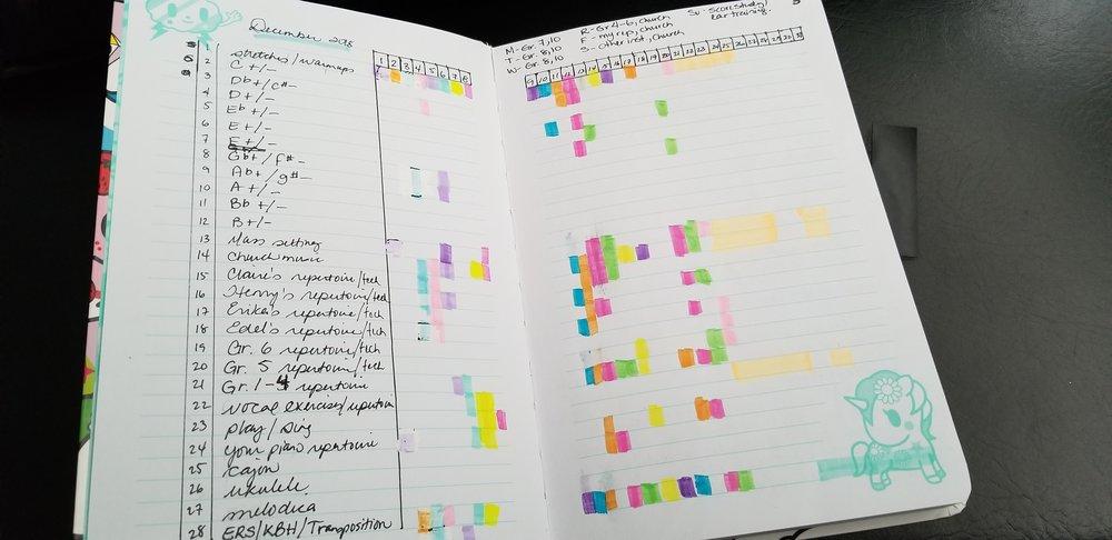 December 2018 Practice Tracker
