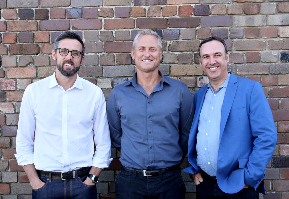 Pat Crowley, Sydney Managing Partner James Sawyer and Chief Operating Officer David Gerrie