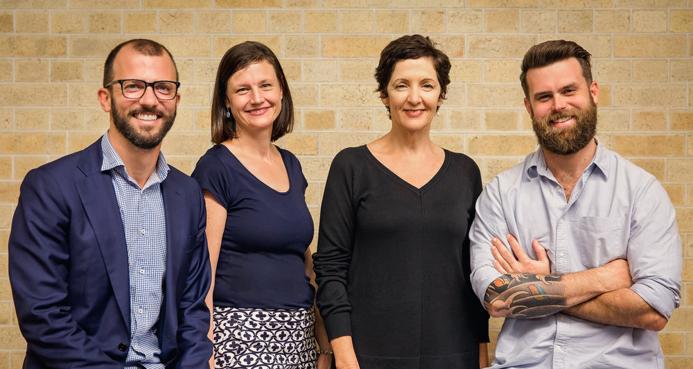 Brisbane Managing Partner Chris Ernst, Brisbane Agency Director Shelley Cook, Ikon Chairperson Lesley Edwards, Brisbane Agency Director Adam Hickey