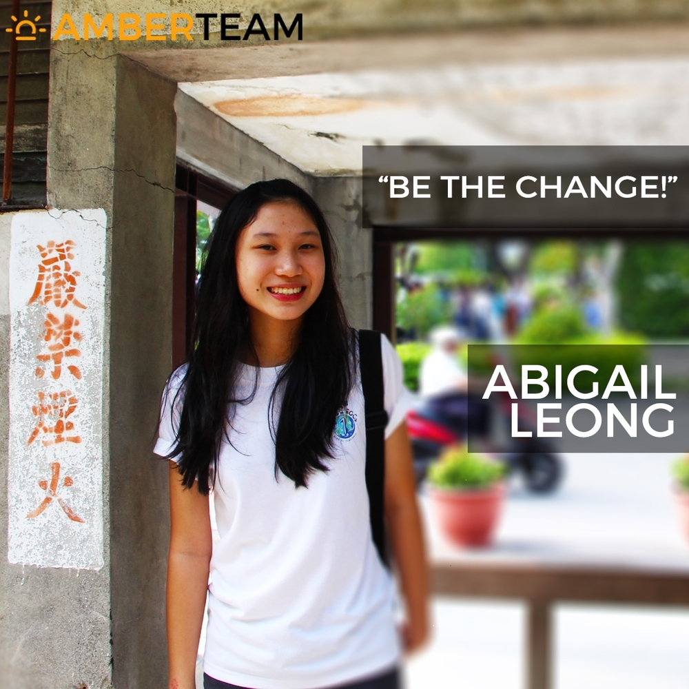 Abigail Leong - Amber Team     Abigail  turns 17 this year (2016) and is in her first year of junior college. Despite the somewhat vigorous school curriculum, she chose to volunteer at Air Amber because she enjoys meeting people from different walks of life and learning from their life experiences. Passionate about serving the community, being part of the Air Amber team has certainly allowed her to interact with new people and foster new friendships. Abigail has decided to step out of her comfort zone and embark on this new journey, with hopes of building relationships with more people from various backgrounds and impacting the lives of others. In this age of social media, it has become easier for people to interact and communicate with one another; yet, she feels that there is an existing social gap between people from diverse backgrounds. Her hope for the future will be for these barriers to be broken so that there can be a common understanding and respect among people. As a travel enthusiast, she aspires to travel to different parts of the world to experience new cultures and lifestyles. In her free time, she enjoys playing the piano and has a deep passion for music. Abigail hopes to bring people together through the power of music. After all, music is the universal language of mankind!