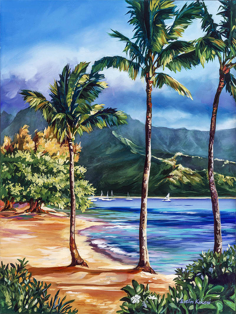 tropical paintings evelin kekesi