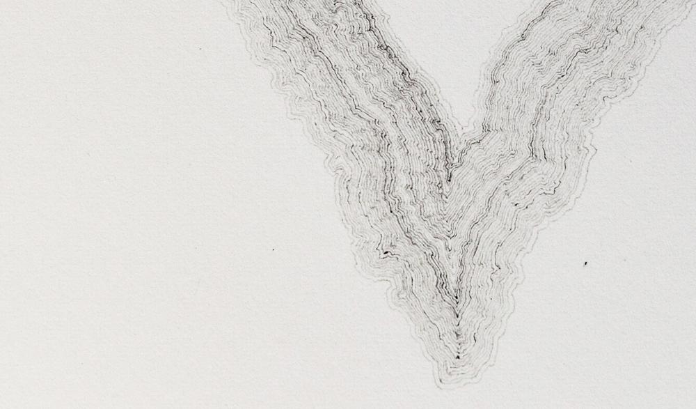 Inner Landscape  (detail). Graphite on paper, 2016