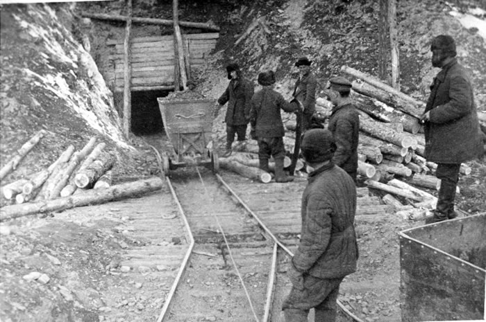 Labour camps in Russia.