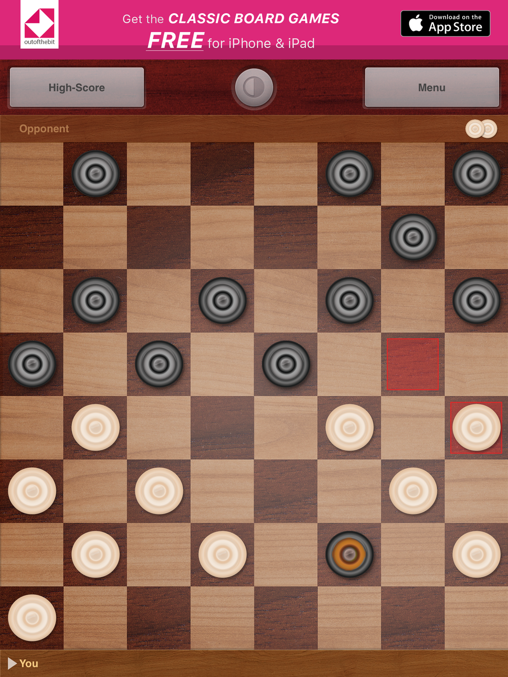 The Draughts by OutOfTheBit Ltd., recommended app for people living with dementia