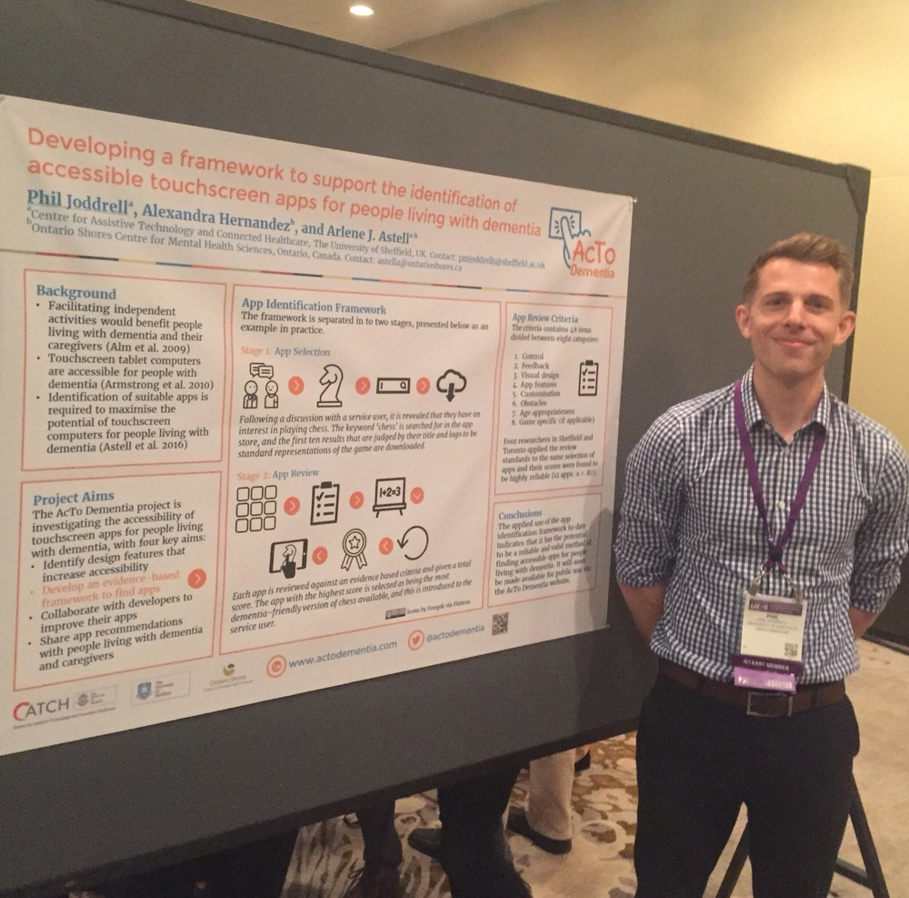 AcTo Dementia researcher Phil Joddrell at the Technology and Dementia Preconference of the AAIC 2016, Toronto