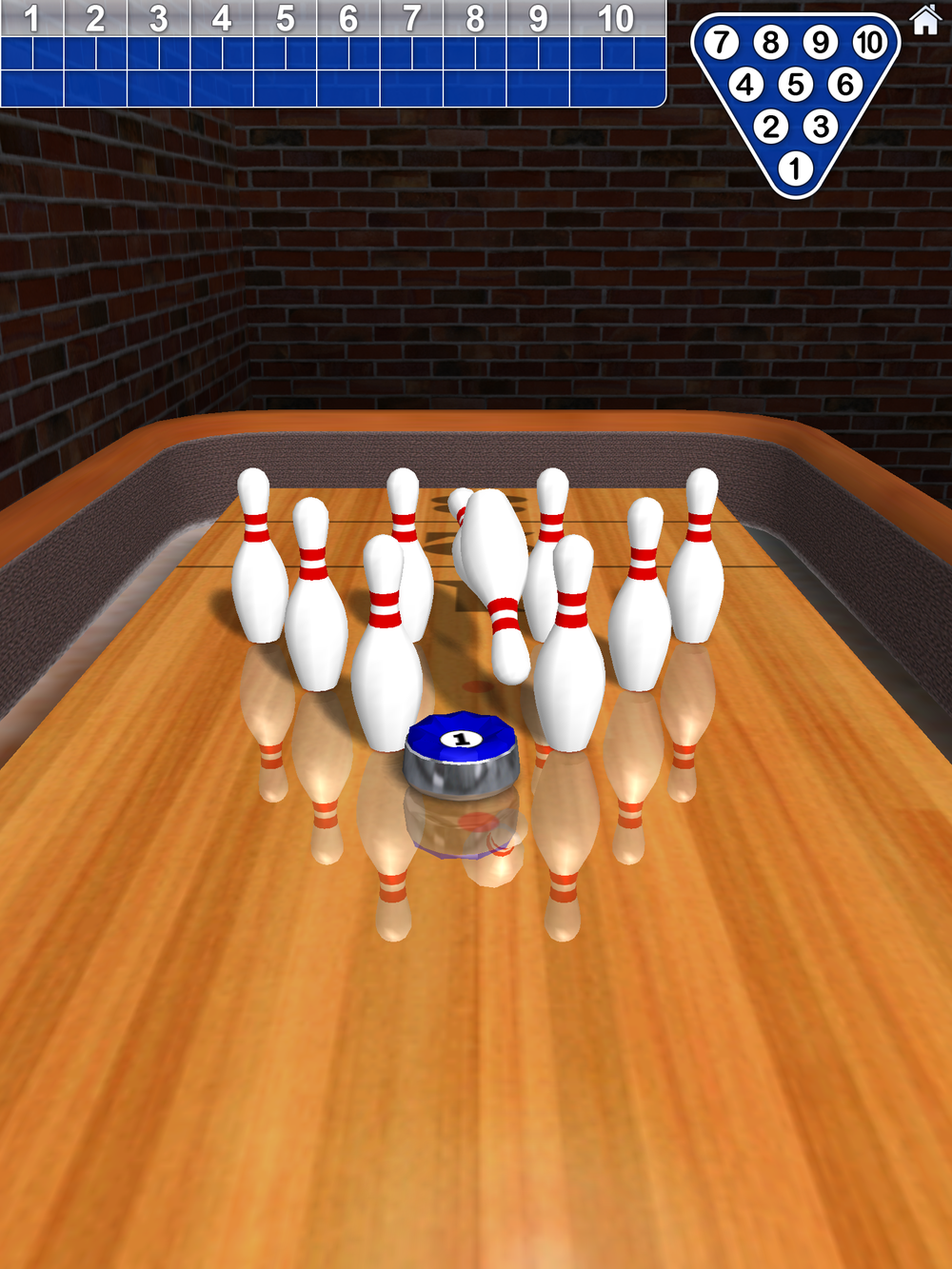 10 Pin Shuffle Bowling by Digital Smoke, recommended app for people living with dementia