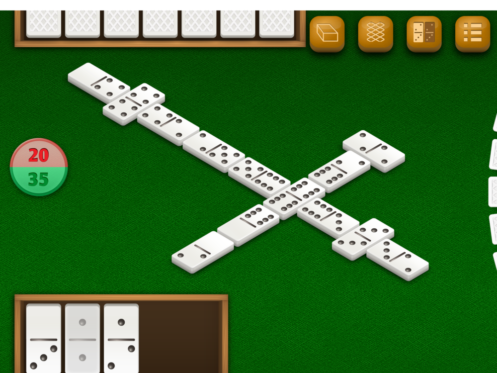 Dominos by DoraLogic, dementia-friendly app (alternative display 1)