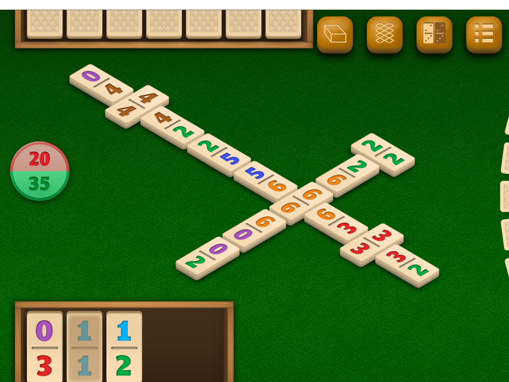 Dominos by DoraLogic, dementia-friendly app (alternative display 3)