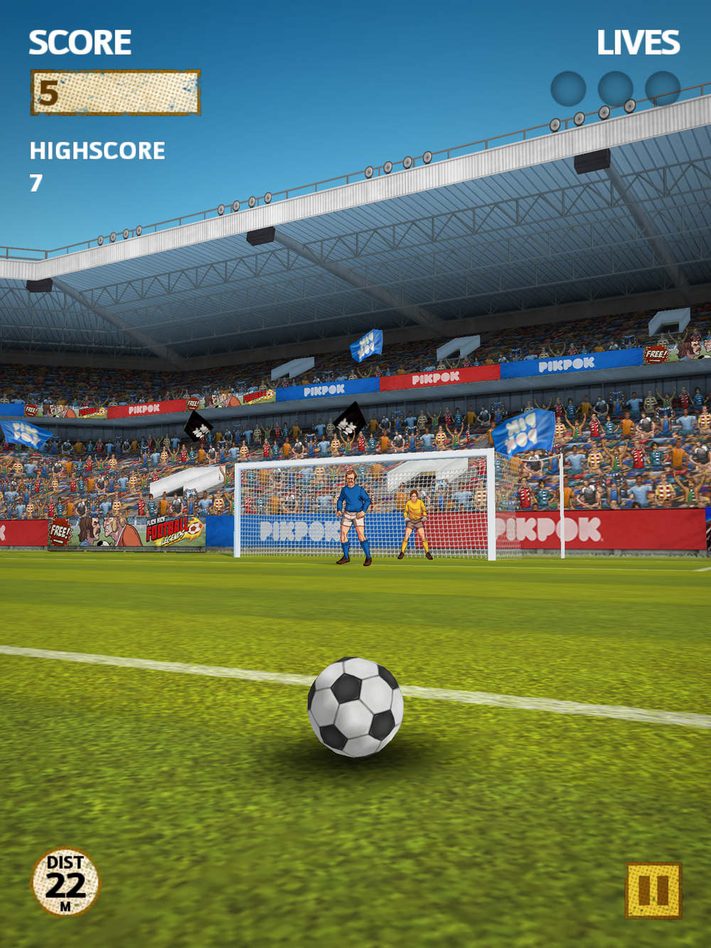 Flick Kick Football by PIKPOK, recommended app for people living with dementia