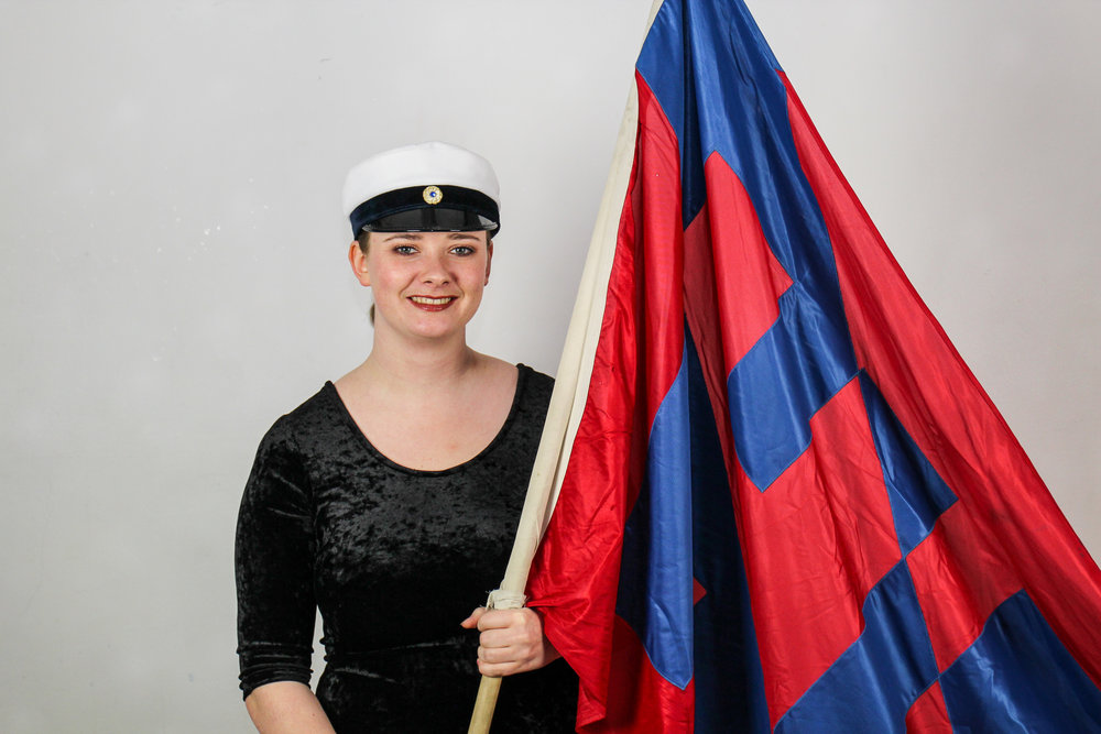 Norah Jonsson, standard-bearer.