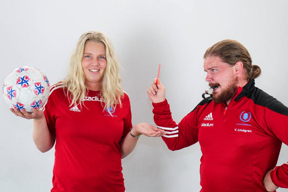 Viktor Lindgren och Nathalie Lööf, FC-förmän.