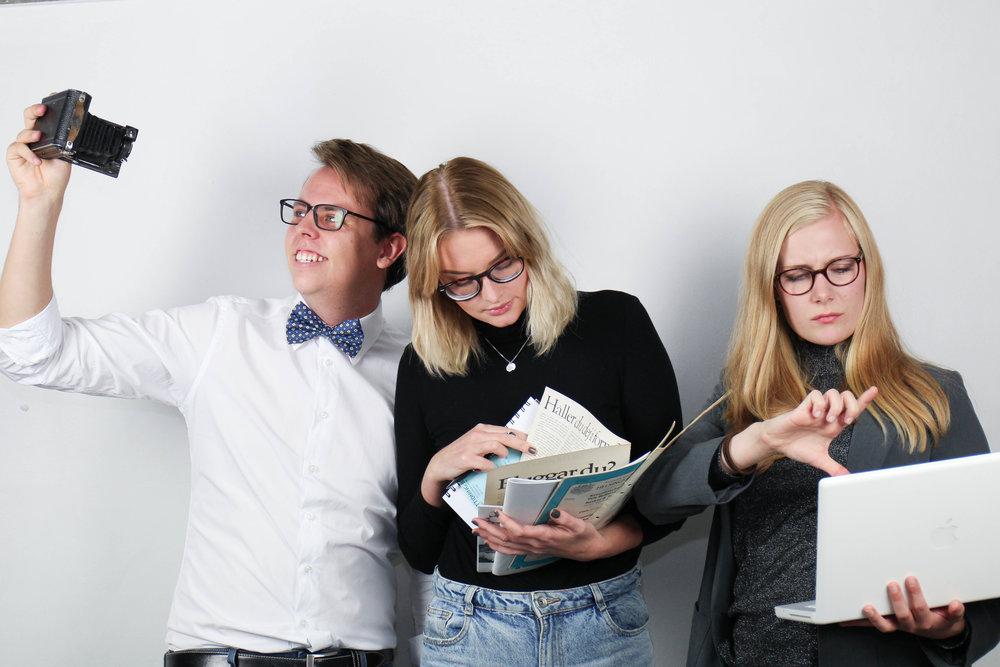 Erik Månsson, PR-förman: Fotografi Emelie Malmquist, PR-förman: Redaktör och Sissela Svärdh PR-förman: Grafisk Design