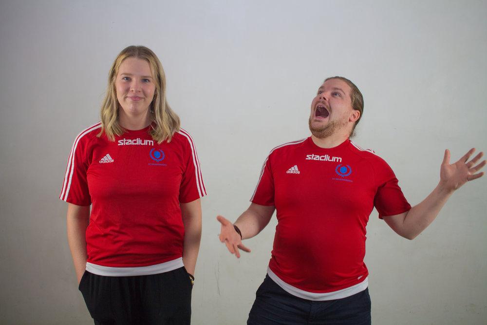 Viktor Lindgren och Nathalie Lööf  , FC-  förmän.