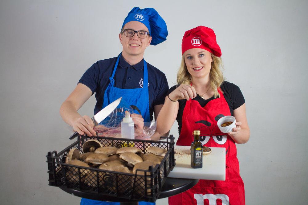 Markus Krook och Maja Nilsson, Festmästare.