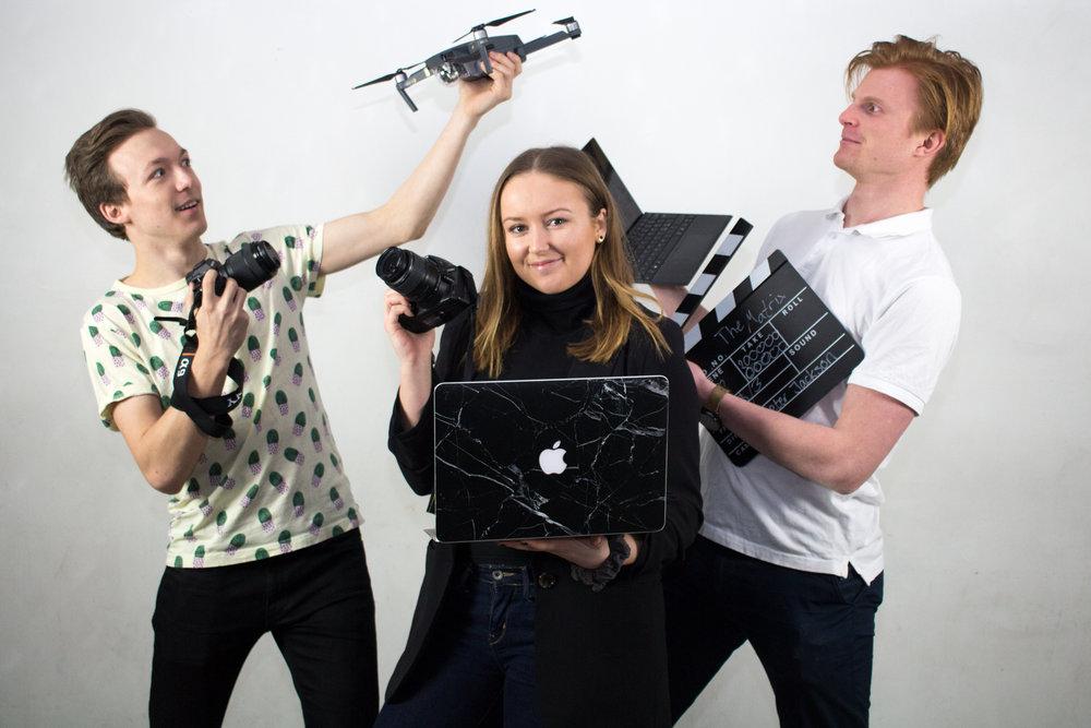 Amanda Flote, PR-förman: Fotografi, Lukas Kjellin Gardebrand, PR-förman: Film och Jonathan Frisk PR-förman: Grafisk Design