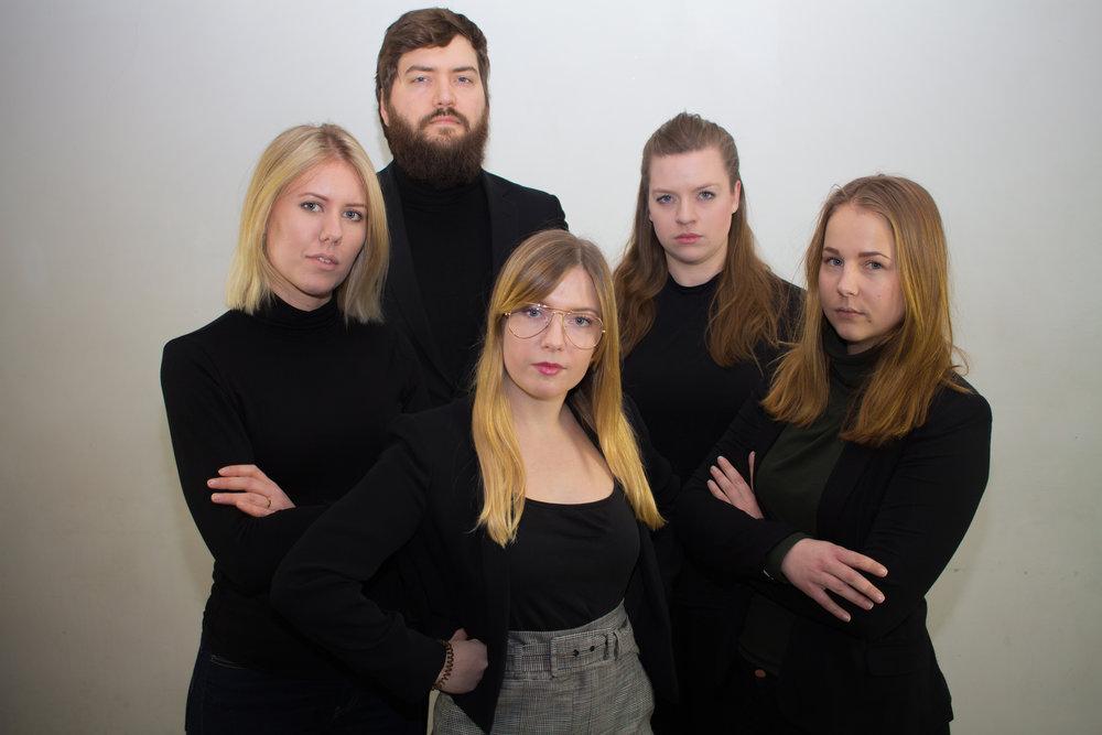Erik Hickery (Ordförande), Magdalena Signäs, Emma Erlandsson, Olivia Book och Kajsa Sikström.