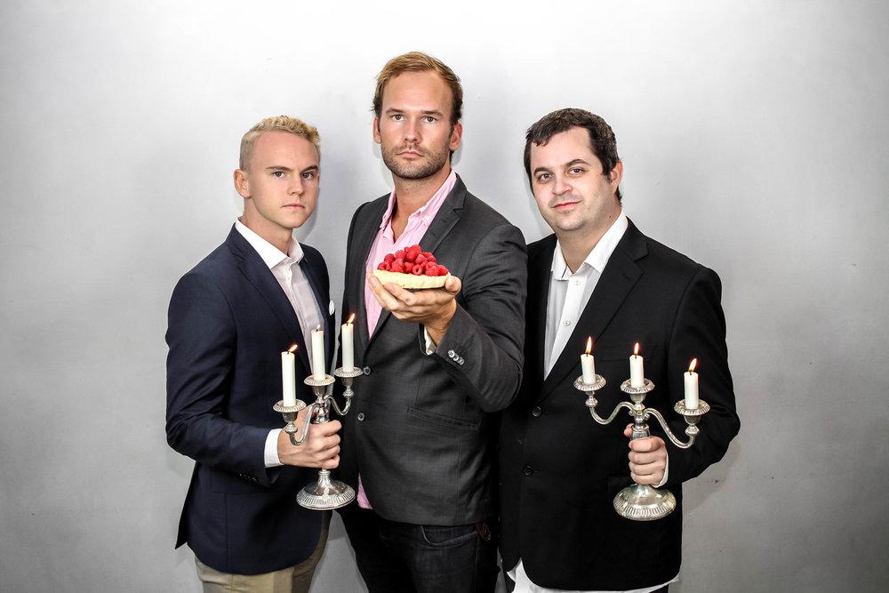Fredrik Moberg, Jonas Hellman och Johan Carling, IT-förmän.