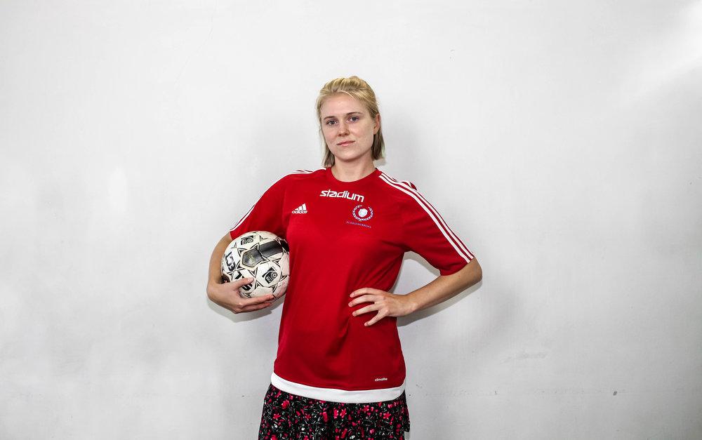 Cornelia Nilsson och Viktor Lindgren (ej i bild), FC-förmän.