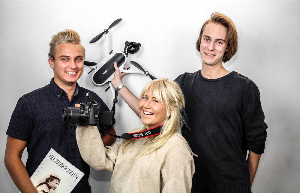 PR-Förman Redaktör: Oliver Särnehed, PR-Förman Foto: Lovisa Johnson, PR-Förman Film: Fredrik Haugen och PR-Förman Grafisk Design: Jonathan Frisk (Ej i bild)