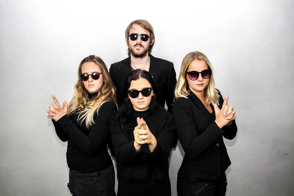 Ina Ögren, Daniel Willén, Laura Schimtz (Ordförande), Olivia Book och Erik Hickery (ej i bild)