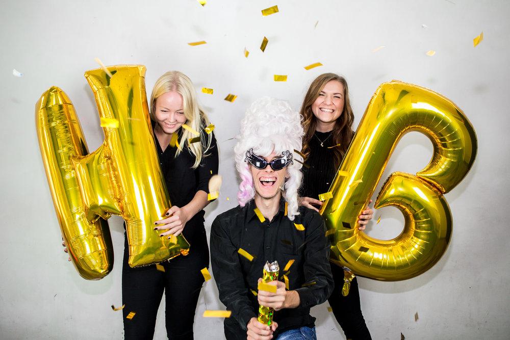 Lovisa Andersson, Zack Jeppesen och Amanda Karlsson