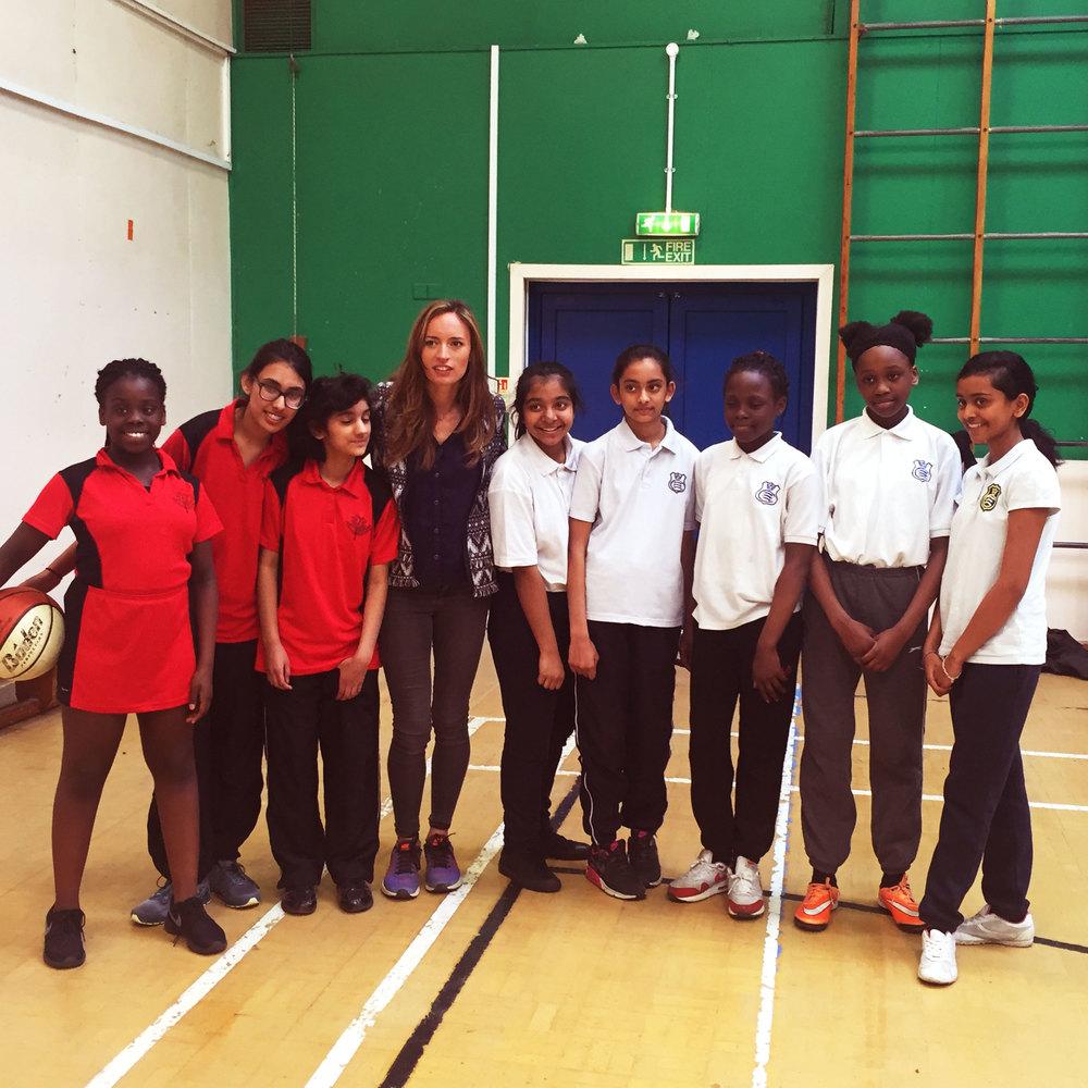 Bonita Norris meets Slam Dunk participants
