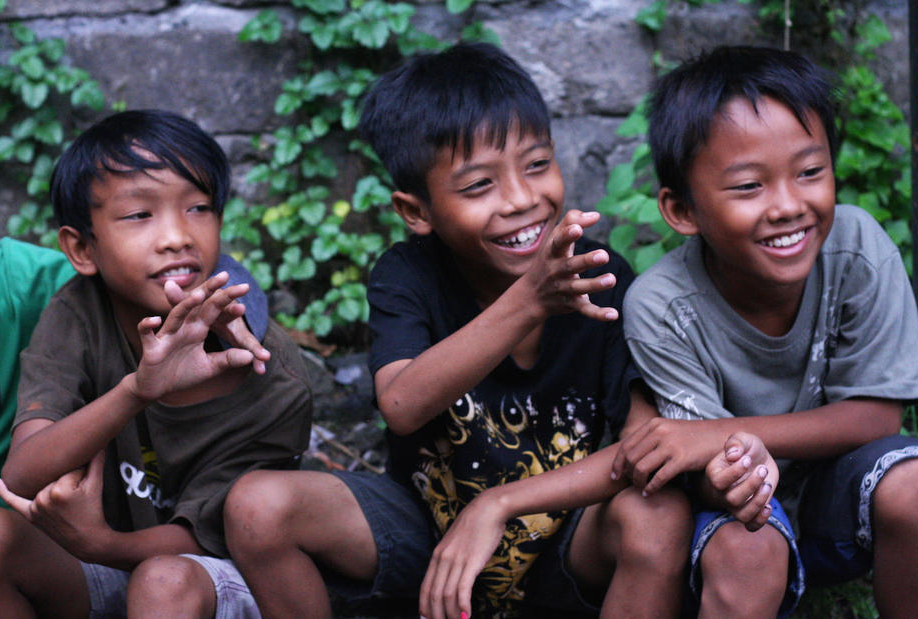 Children at the orphanage in Bali