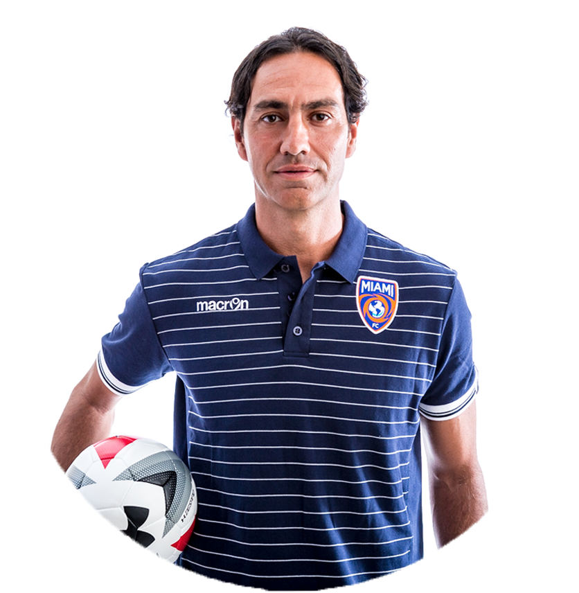 Alessandro Nesta  The Miami FC is led by first-time head coach Alessandro Nesta. Nesta is one of the world's most decorated defenders after being a fixture in Serie A and the Italian National Team.  After a strong career with the Lazio youth academy, Nesta turned pro at just 16 years old and made his first appearance at 17. He was named the team captain as a 21-year-old, leading the side to a Coppa Italia title and UEFA Cup Final appearance. Nesta would go on to make 193 appearances for Lazio as the club would continually compete for Series A and Champions League titles.  Nesta would leave Lazio in 2002, when he moved to Italian giant's AC Milan. In his first season with the club, he won the Champions League and the Coppa Italia. For his performance he was named the Serie A Defender of the Year and to the UEFA Team of the Year. His second season would see AC Milan win Serie A while setting a points record. Nesta would play 10 seasons for AC Milan and cement himself as one of the best defenders of all time.  At the tail end of his career Nesta moved to the MLS and got his first taste of US soccer. He would play two seasons with the Montreal Impact, leading them to the 2013 Amway Canadian Championship and the club's first MLS playoff appearance.  In 2014 Nesta decided to retire and was chosen to lead the Miami FC in its inaugural NASL season in 2016.