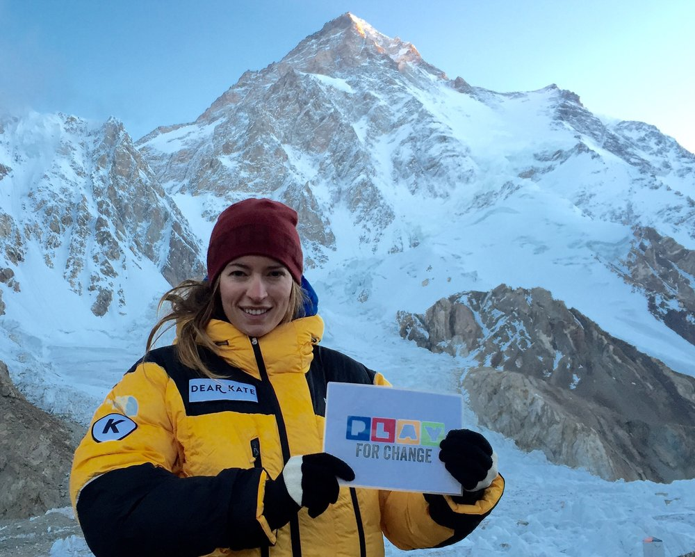 Bonita, representing Play for Change on her expedition to K2, which is considered the most dangerous mountain