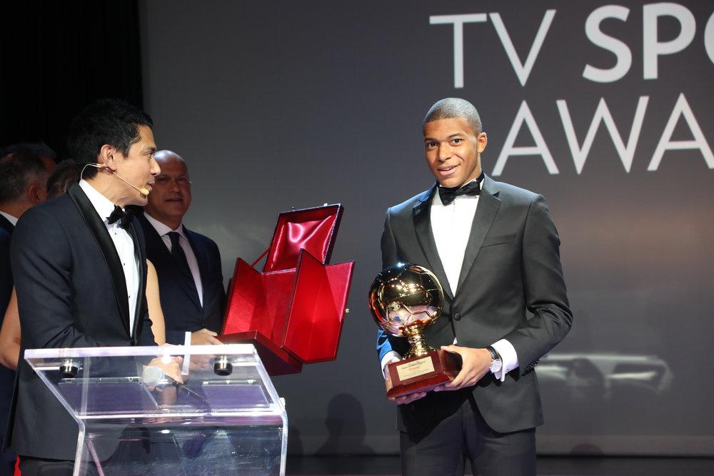 Winner of 2017 Golden Boy Award, Kylian Mbappe, aged 18 years old