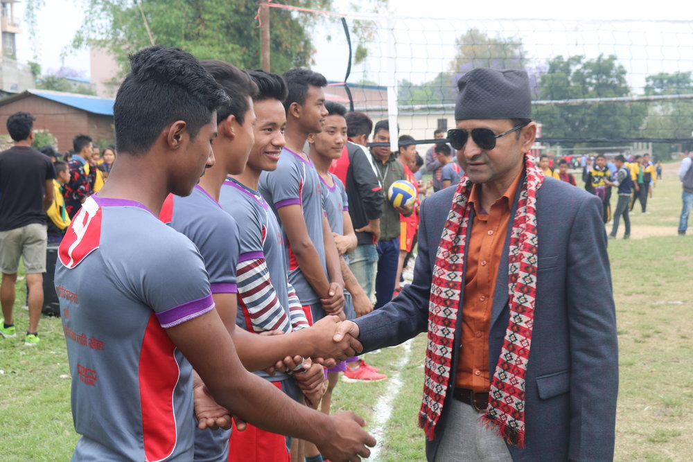 chief guest giving wishes for Rudrayani Team (2).JPG