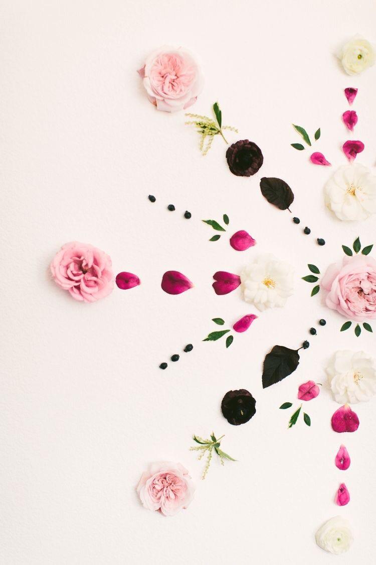 Flower petal mandala