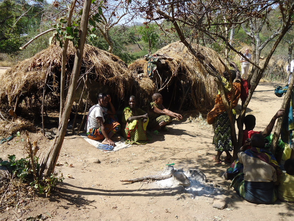 A Hadzabe community homestead, WaterAid