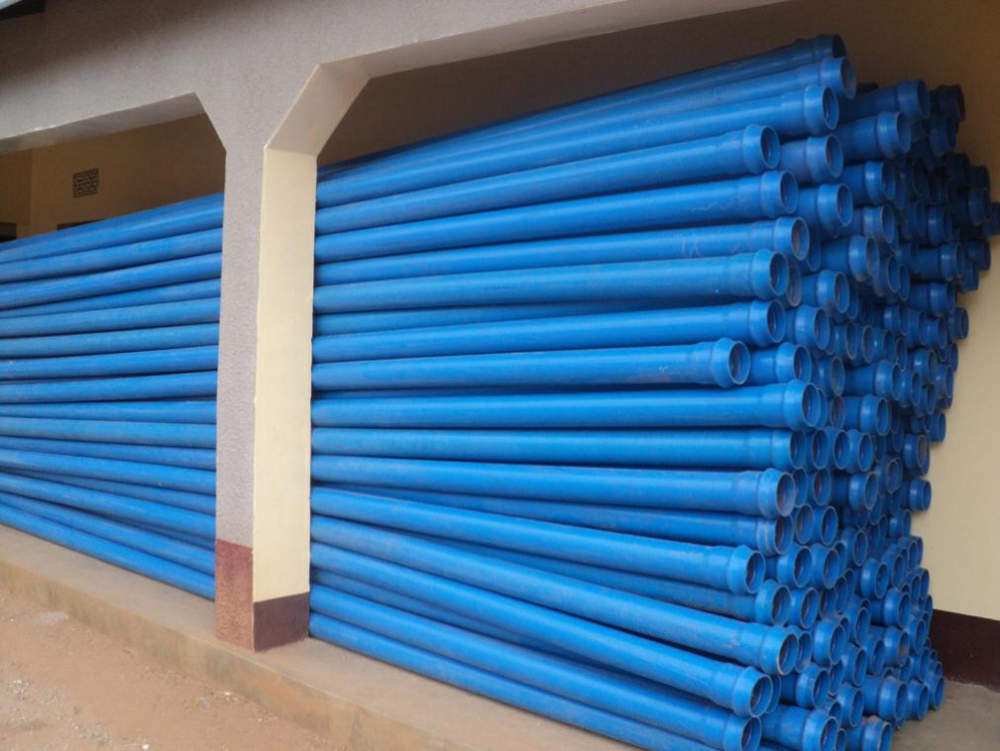 Pipes for new system, WaterAid