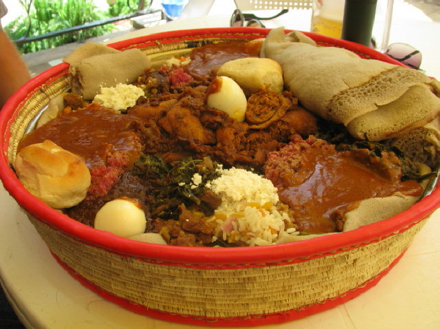 Wat with Injera. Photo from: Afrotourism.com