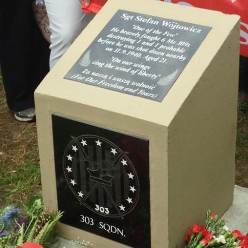 Memorial stone Sgt. Stefan Wójtowicz