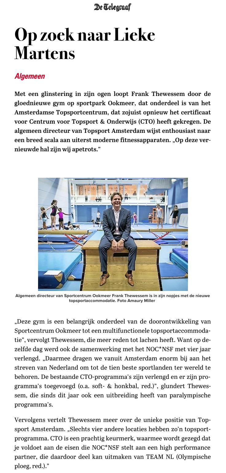 De Telegraaf, maandag 2 oktober 2017