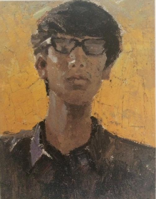 Wu Jun, Self Portrait, 1978, oil on canvas, 28cm x 22cm