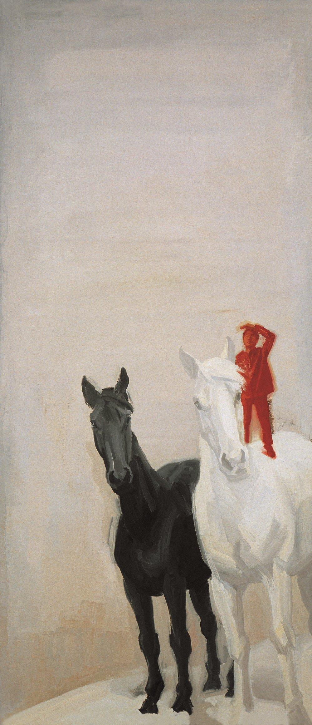 13.   The Dreams: Lookout,  75x50cm   Silk Print  2010                                         梦 --- 眺望   丝网版画.jpg