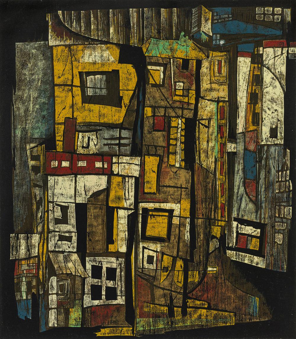 Wooden Houses Street, 1991, 63 x 55cm, 6:8.jpg