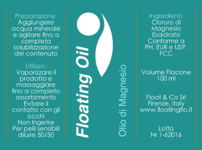 FLOATING OIL: 100 ml € 15; 200 ml € 24