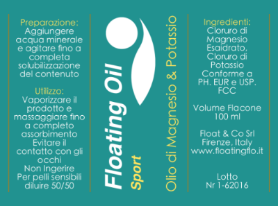 FLOATING OIL SPORT: 100 ml € 18; 200 ml € 28