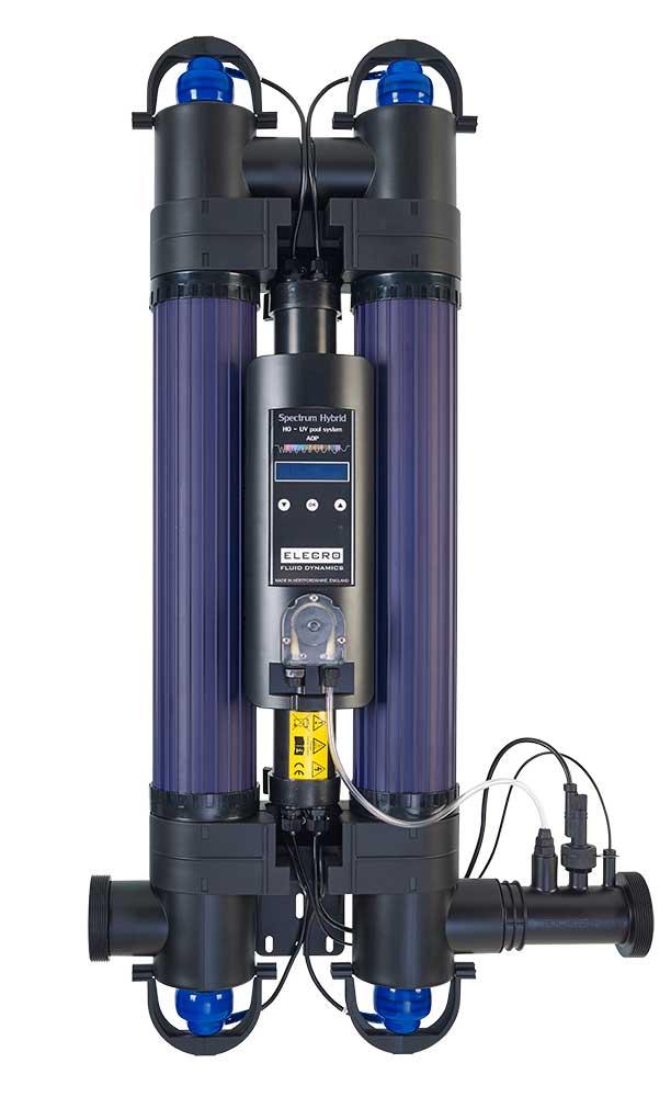 SPECTRUM Hybrid UV doppia lampada + pompa dosatrice e indicatore durata Lampada