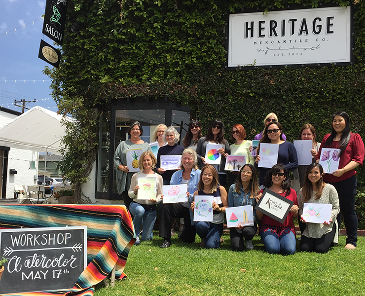 Intro to Watercolor - at Heritage, May 2016