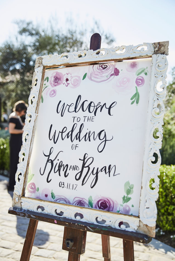 wedding welcome sign by Ladyfolk Studio